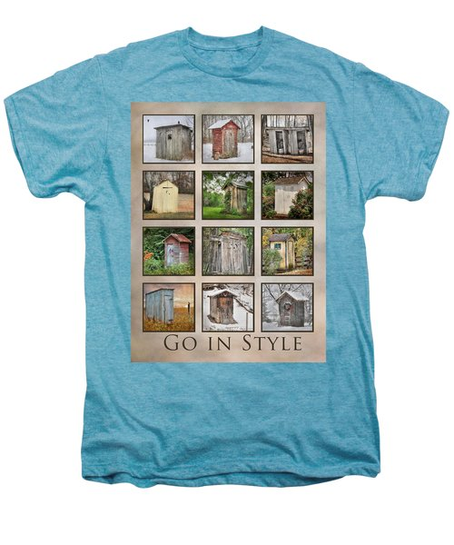 Go In Style - Outhouses Men's Premium T-Shirt by Lori Deiter