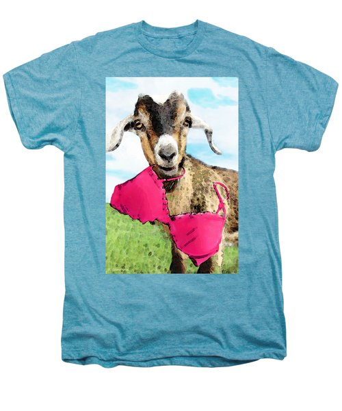 Goat Art - Oh You're Home Men's Premium T-Shirt by Sharon Cummings
