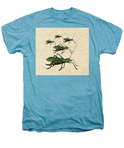 Grasshopper Parade Men's Premium T-Shirt by Antique Images