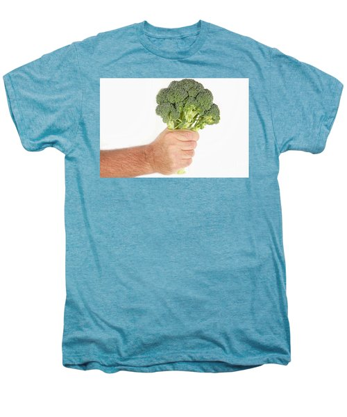 Hand Holding Broccoli Men's Premium T-Shirt by James BO  Insogna