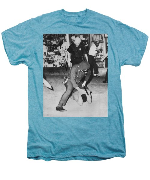 Harlem Race Riots Men's Premium T-Shirt by Underwood Archives