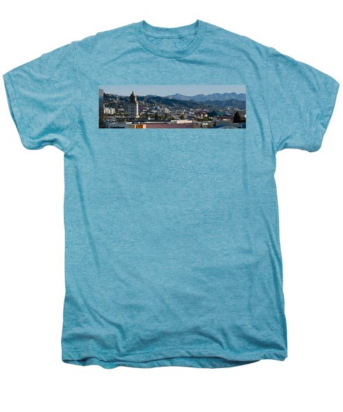 High Angle View Of A City, Beverly Men's Premium T-Shirt by Panoramic Images