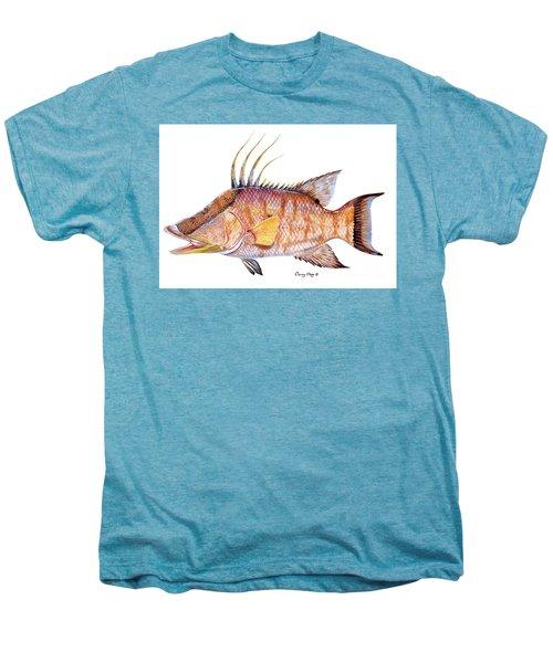 Hog Fish Men's Premium T-Shirt by Carey Chen