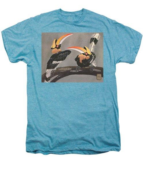 Hornbills Men's Premium T-Shirt by Ethleen Palmer