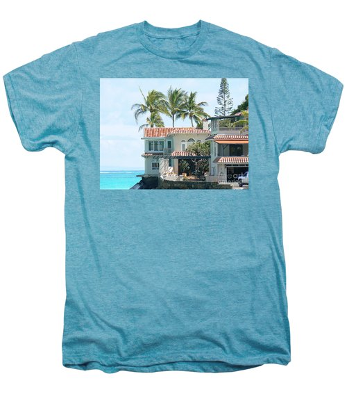 House At Land's End Men's Premium T-Shirt by Dona  Dugay