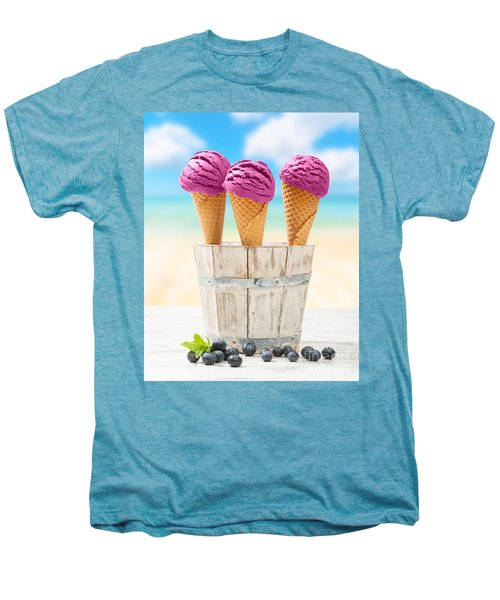Icecreams With Blueberries Men's Premium T-Shirt by Amanda Elwell