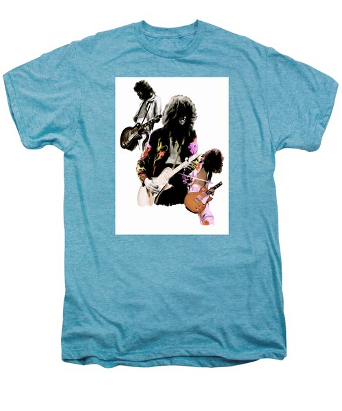 In Flight Iv Jimmy Page  Men's Premium T-Shirt by Iconic Images Art Gallery David Pucciarelli