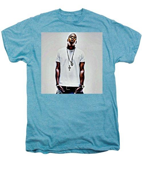 Jay-z Portrait Men's Premium T-Shirt by Florian Rodarte
