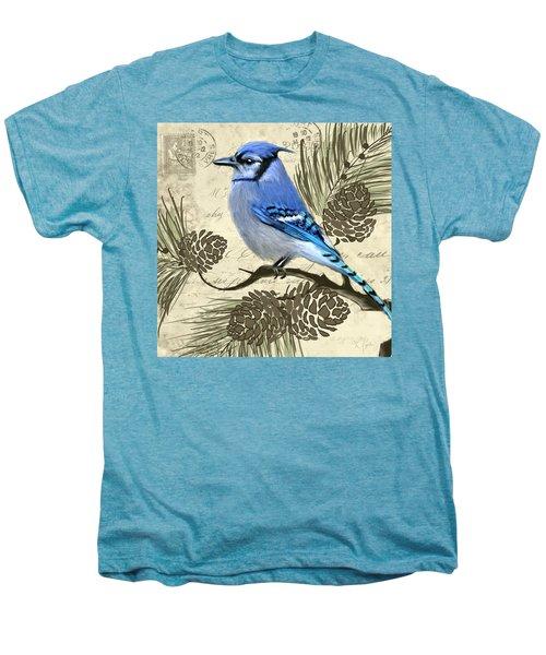 Jeweled Blue Men's Premium T-Shirt by Lourry Legarde
