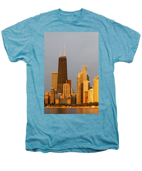 John Hancock Center Chicago Men's Premium T-Shirt by Adam Romanowicz
