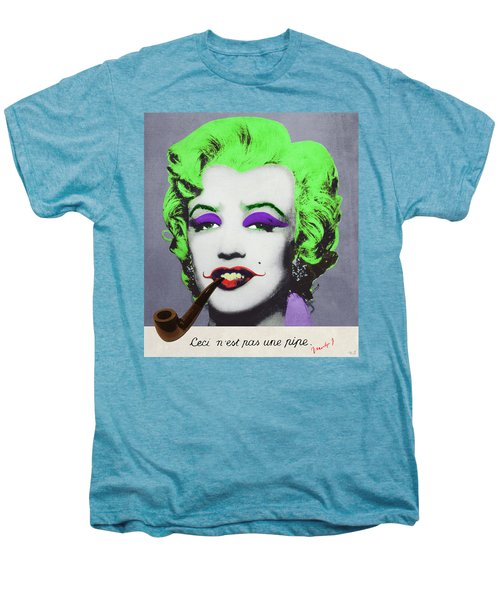 Joker Marilyn With Surreal Pipe Men's Premium T-Shirt by Filippo B