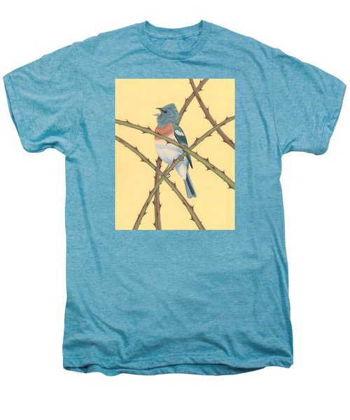 Lazuli Bunting Men's Premium T-Shirt by Nathan Marcy