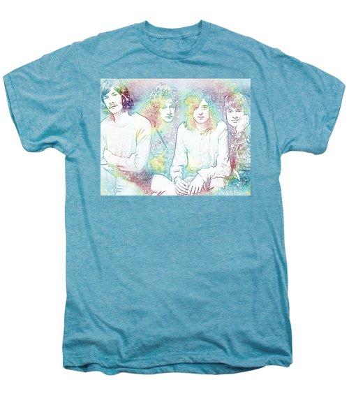 Led Zeppelin Tie Dye Men's Premium T-Shirt by Dan Sproul