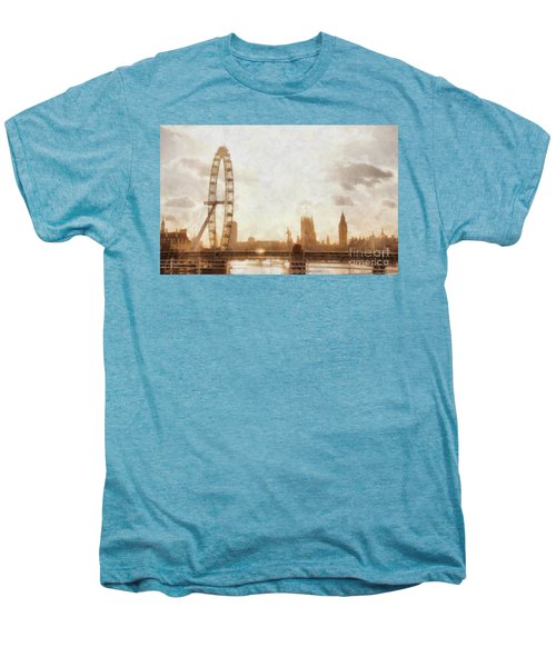 London Skyline At Dusk 01 Men's Premium T-Shirt by Pixel  Chimp