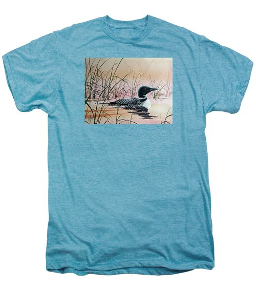 Loon Sunset Men's Premium T-Shirt by James Williamson