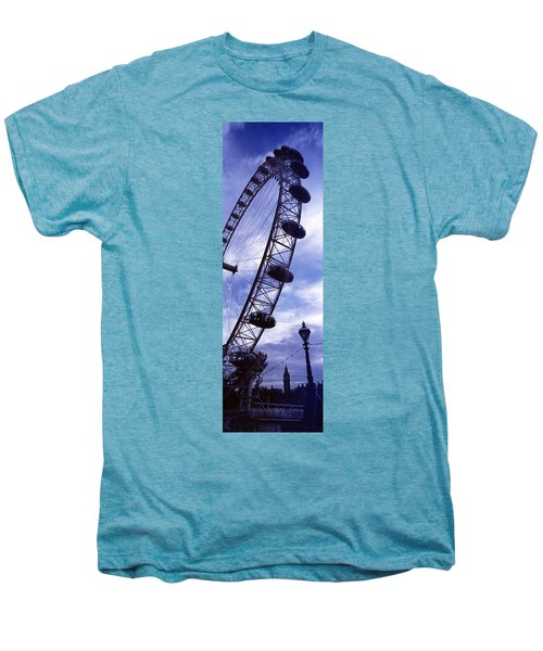 Low Angle View Of The London Eye, Big Men's Premium T-Shirt by Panoramic Images