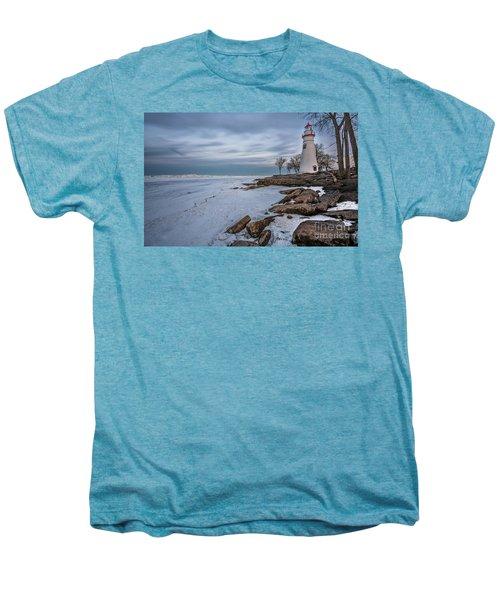 Marblehead Lighthouse  Men's Premium T-Shirt by James Dean