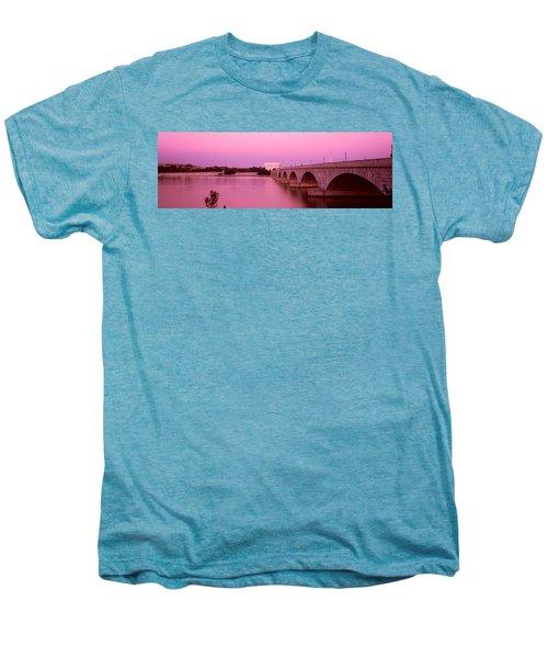 Memorial Bridge, Washington Dc Men's Premium T-Shirt by Panoramic Images
