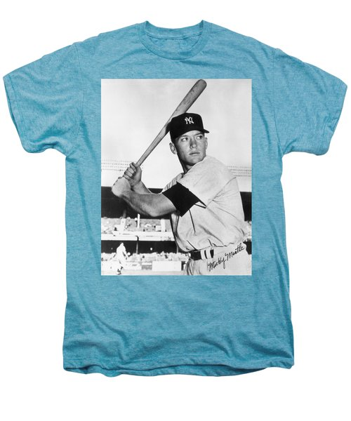 Mickey Mantle At-bat Men's Premium T-Shirt by Gianfranco Weiss
