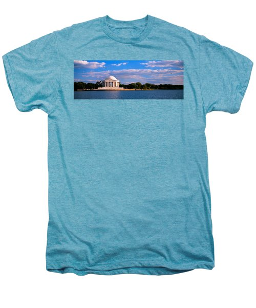 Monument On The Waterfront, Jefferson Men's Premium T-Shirt by Panoramic Images