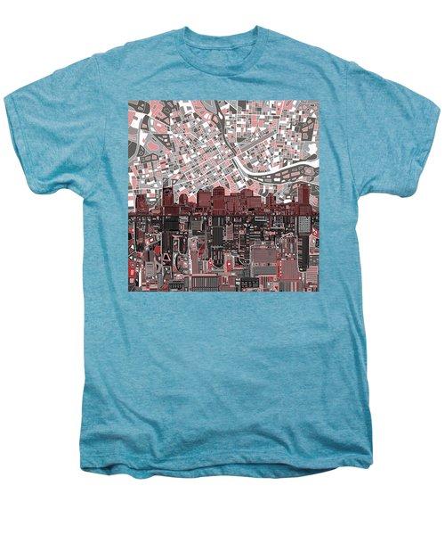 Nashville Skyline Abstract 3 Men's Premium T-Shirt by Bekim Art