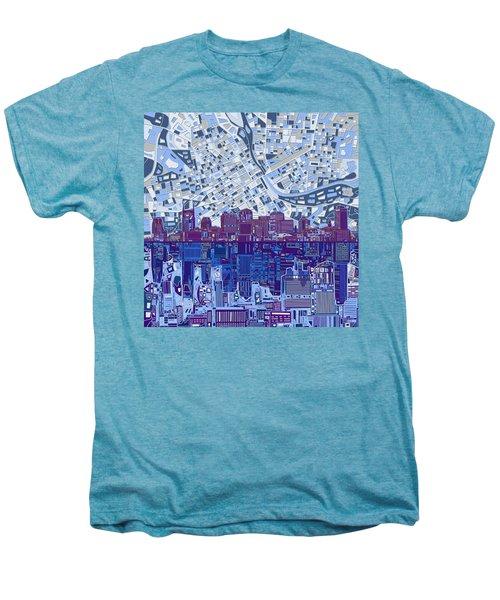Nashville Skyline Abstract 8 Men's Premium T-Shirt by Bekim Art