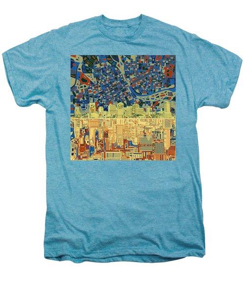 Nashville Skyline Abstract 9 Men's Premium T-Shirt by Bekim Art
