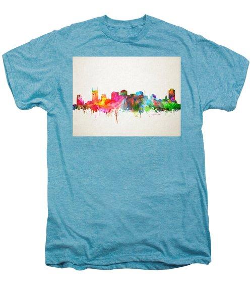 Nashville Skyline Watercolor 9 Men's Premium T-Shirt by Bekim Art