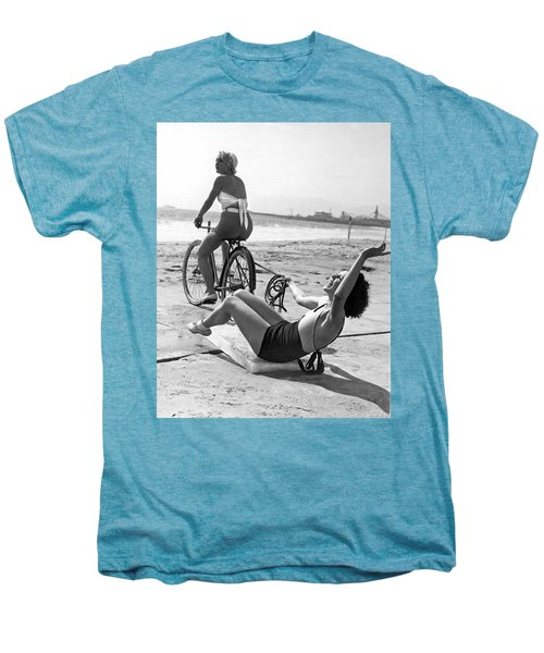 New Sport Of Ice Planing Men's Premium T-Shirt by Underwood Archives
