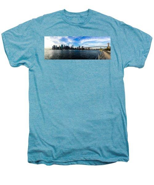 New York Skyline - Color Men's Premium T-Shirt by Nicklas Gustafsson
