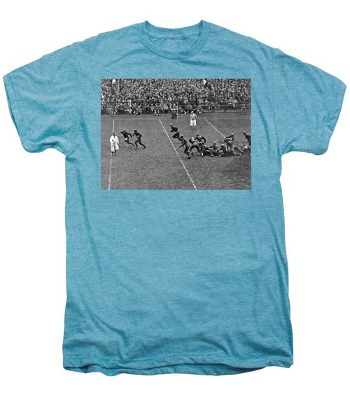 Notre Dame Versus Army Game Men's Premium T-Shirt by Underwood Archives