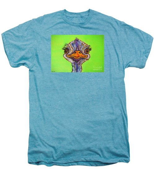 O For Ostrich Men's Premium T-Shirt by Ella Kaye Dickey