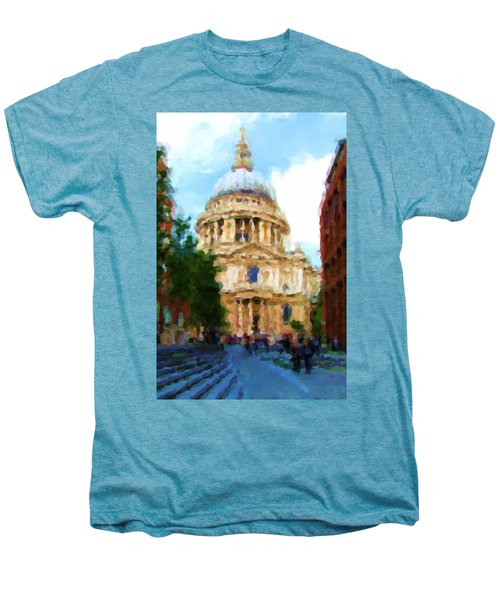 On The Steps Of Saint Pauls Men's Premium T-Shirt by Jenny Armitage