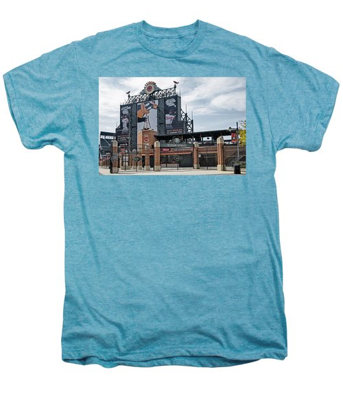 Oriole Park At Camden Yards Men's Premium T-Shirt by Susan Candelario