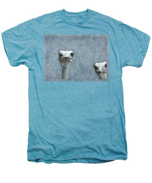 Ostriches Men's Premium T-Shirt by James W Johnson