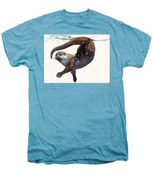 Otter Study II  Men's Premium T-Shirt by Mark Adlington