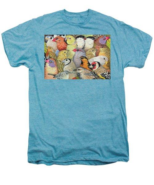 Patchwork Birds Men's Premium T-Shirt by Ditz