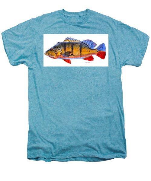 Peacock Bass Men's Premium T-Shirt by Carey Chen