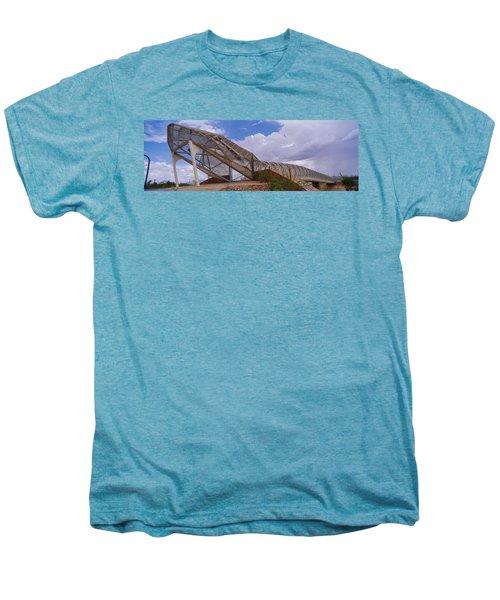 Pedestrian Bridge Over A River, Snake Men's Premium T-Shirt by Panoramic Images