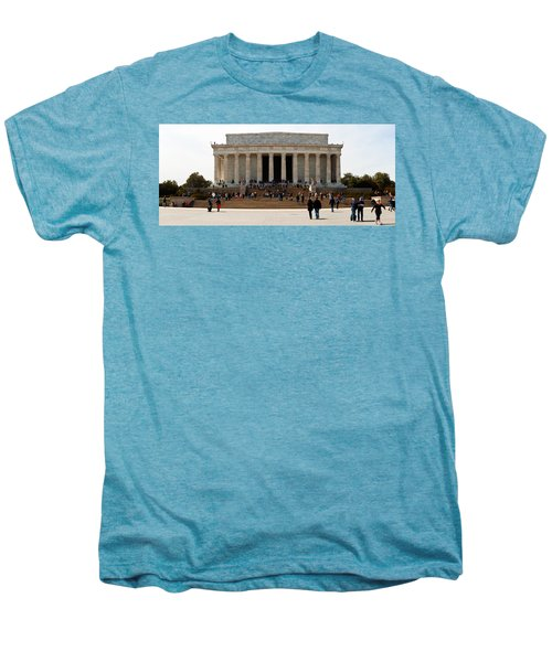 People At Lincoln Memorial, The Mall Men's Premium T-Shirt by Panoramic Images