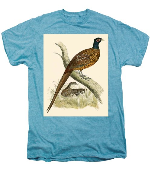 Pheasant Men's Premium T-Shirt by Beverley R Morris