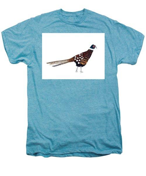 Pheasant Men's Premium T-Shirt by Isobel Barber