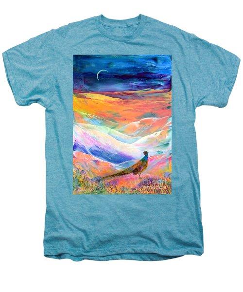 Pheasant Moon Men's Premium T-Shirt by Jane Small