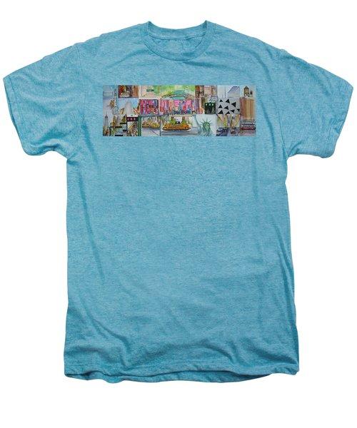 Postcards From New York City Men's Premium T-Shirt by Jack Diamond