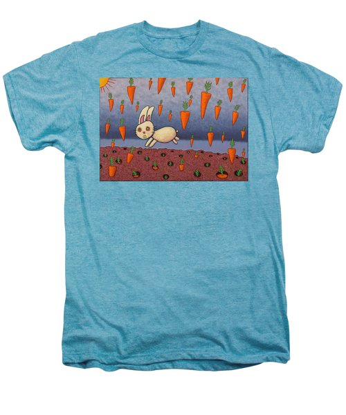 Raining Carrots Men's Premium T-Shirt by James W Johnson