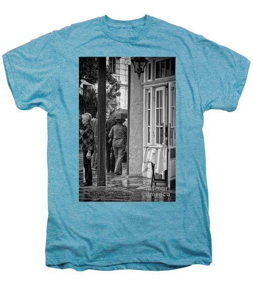 Rainy Day Lunch New Orleans Men's Premium T-Shirt by Kathleen K Parker