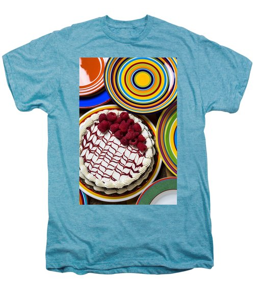 Raspberry Cake Men's Premium T-Shirt by Garry Gay