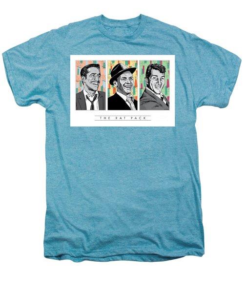Rat Pack Pop Art Men's Premium T-Shirt by Jim Zahniser