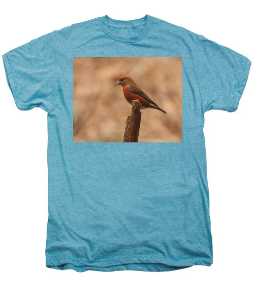 Red Crossbill Men's Premium T-Shirt by Charles Owens
