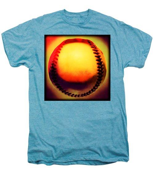 Red Hot Baseball Men's Premium T-Shirt by Yo Pedro